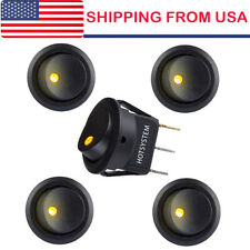 5 Rocker Switches 12v Round Toggle On Off 12 Volt Car Snap In Switch