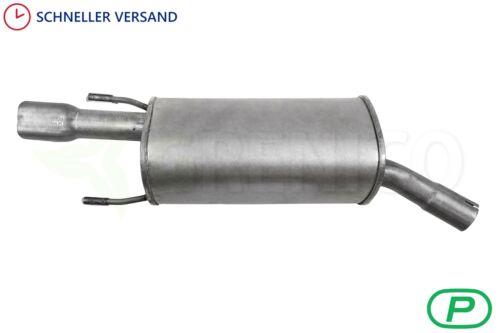 Endschalldämpfer OPEL CORSA B 1.4i 1.6 1.6GSI Schrägheck Van 1993-2000 Auspuff