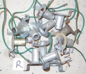 1960's-on Triumph BSA Norton Lucas tail light bulb holders & parts USED QTY=12-R