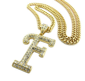 New hip hop iced out letter f initial alphabet pendant crystals image is loading new hip hop iced out letter f initial mozeypictures Images