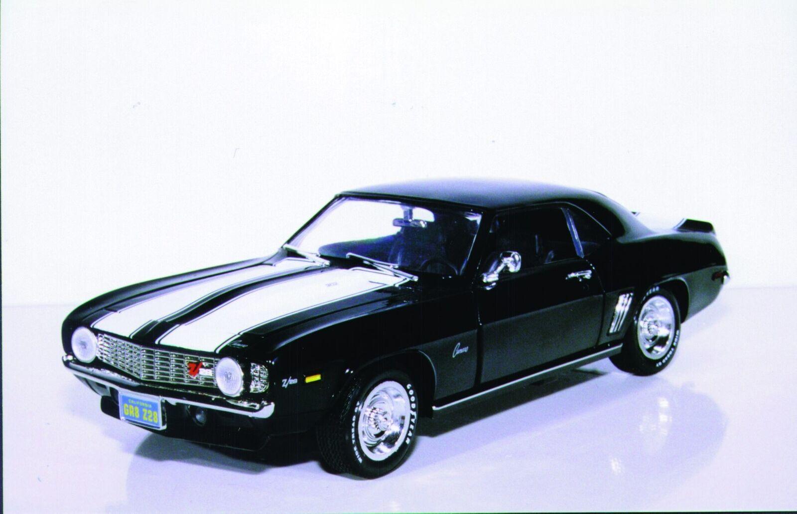 1 18 Ertl Chevy Camaro '69 Z28 Coupe tuxedo negro MIB
