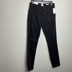 H M Logg Talla 28 X 31 Skinny Fit Pantalones Chino Negro Stretch Hombre Nuevo Con Etiquetas Ebay