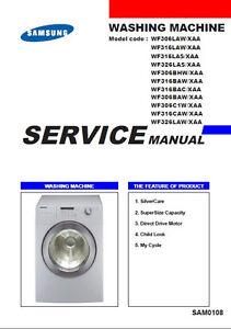 Samsung Front Load Washer Service Repair Manual Ebay