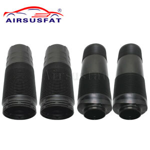 4PCS FRONT REAR DUST BOOT COVER FOR MERCEDES W220 C215 ABC HYDRAULIC STRUT Shock