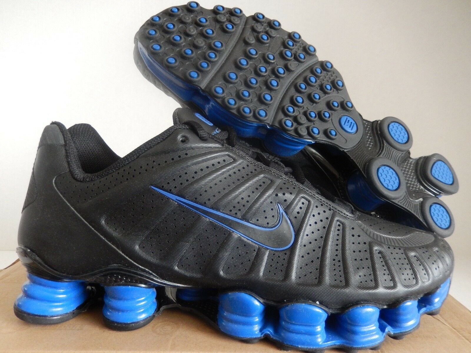 nike shox tlx insgesamt sz shox turbo black-black-game königsblau sz insgesamt 9,5 (488313-004] 9e0fff