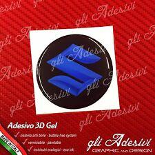 1 Adesivo Resinato SUZUKI 3D Blu 50 mm auto moto