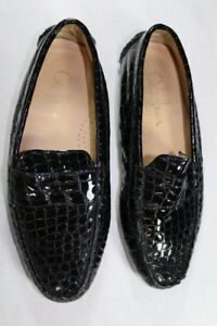 7e32669843c Women s Cole Haan Black Croc Driving Loafers 6.5 M Patent Leather ...