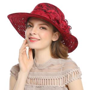 Elegant Ladies Derby Church Floppy Cloche Lace Hat Bucket Bowler ... 733830bf46e