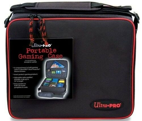Ultra Pro Portable Gaming Case w/ Zipper & Strap for Magic MTG Cards