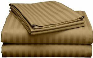 PREMIUM QUALITY Rv Sheet Taupe Cotton RV Sheet Sets 800 Tc with Easy Fit