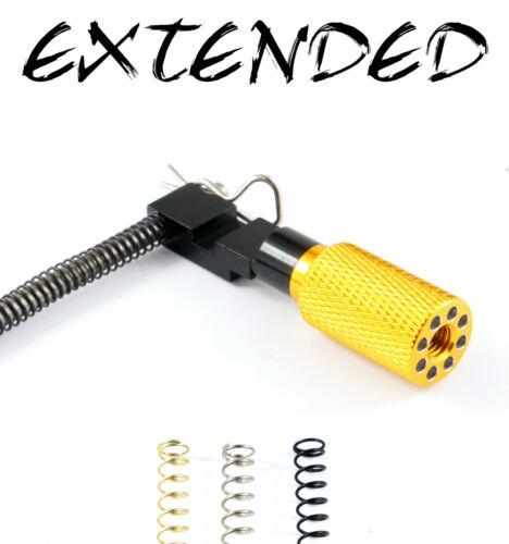 3 SPRINGS 10//22 Ruger Extended Charging Handle 1022 10-22 GOLD KNURLED SKEL