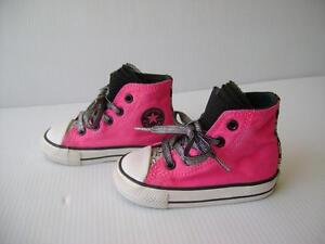 6fa6aeea3e0e3e ALL STAR CONVERSE CHUCK TAYLOR Girl s Hight Tops Sneakers Hot Pink ...