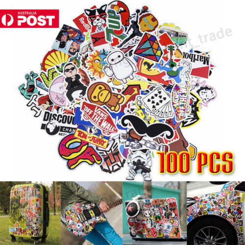 100Pcs Random Vinyl Decal Graffiti Stickers Bomb Laptop Waterproof Stickers Skat