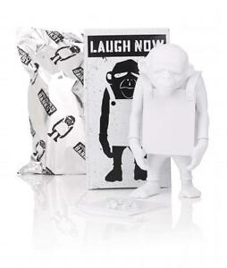 LAUGH-NOW-DIY-WHITE-6-034-VINYL-ART-TOY-FIGURE-APOLOGIES-TO-BANKSY