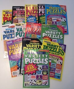 Lot-of-6-Penny-Press-Variety-Puzzle-Books-Dell-FAST-SHIPPING-2018-and-newer