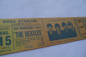 BEATLES-1965-Original-UNUSED-CONCERT-TICKET-Shea-Stadium-NYC