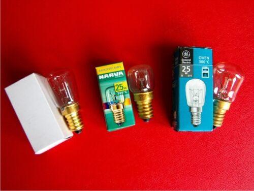 Backofenlampe E14//25W Birnenform bis 300°C Birnenform