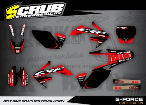 /'09 SCRUB motocross Honda CRF Dekor Grafik CRf250 R 2006 2007 2008 2009 /'06