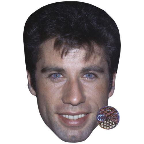 joven John Travolta Celebridad Máscara Cara de tarjeta y máscara de Vestido de fantasía