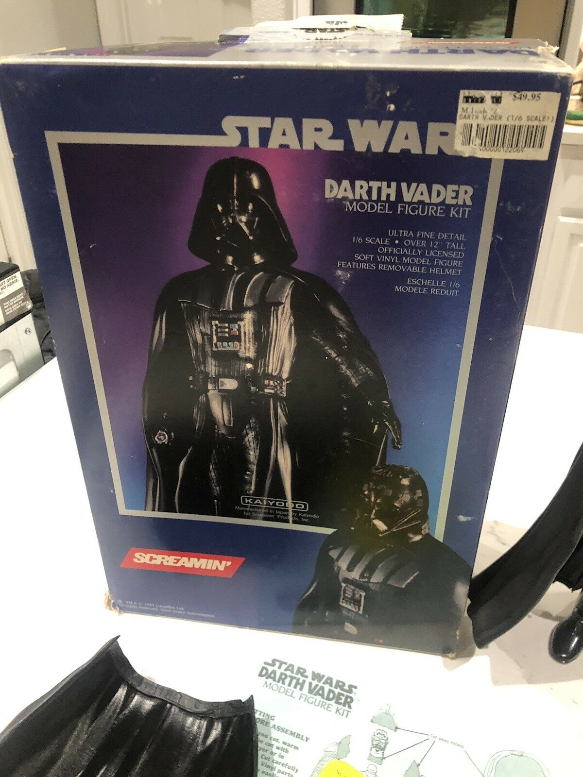 Screamin Kaiyodo Star Wars Darth Darth Darth Vader 1 6 Scale Vinyl Model Complete In BOX b0ef5e
