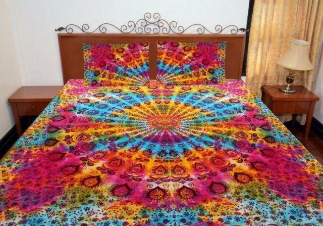 Mandala Hippie Indian Duvet Doona Cover Comforter Bohemian Queen Quilt Cover Set