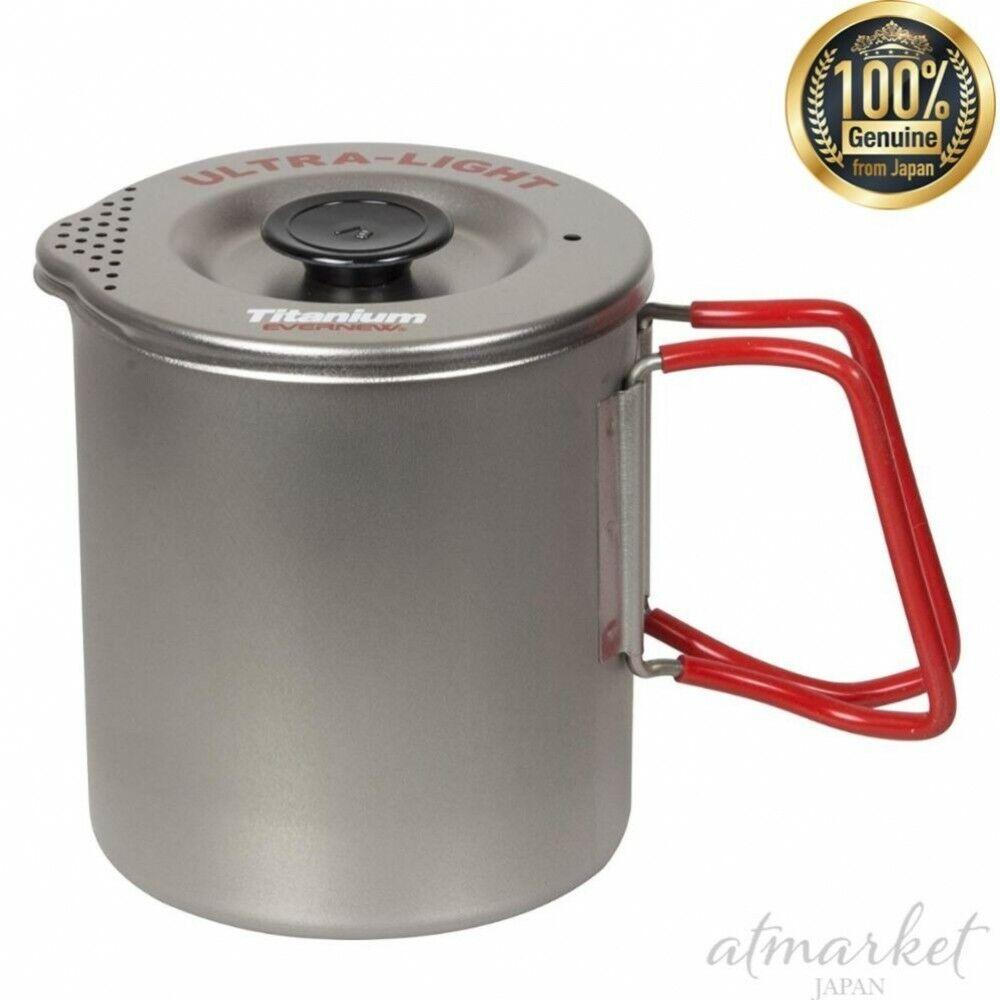 Evernew Titanium Pasta también cocina ECA521R S Rojo Al Aire Libre Genuino de Japón