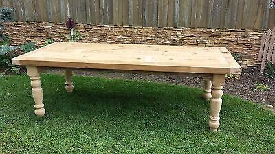 Amish made reclaimed barn wood farm harvest dining table 7' custom built