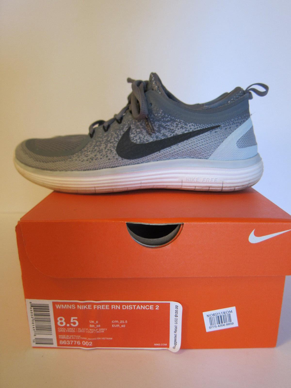 WMNS Nike Free RN Distance 2 - Size 8.5 - Cool Grey - 863776 002