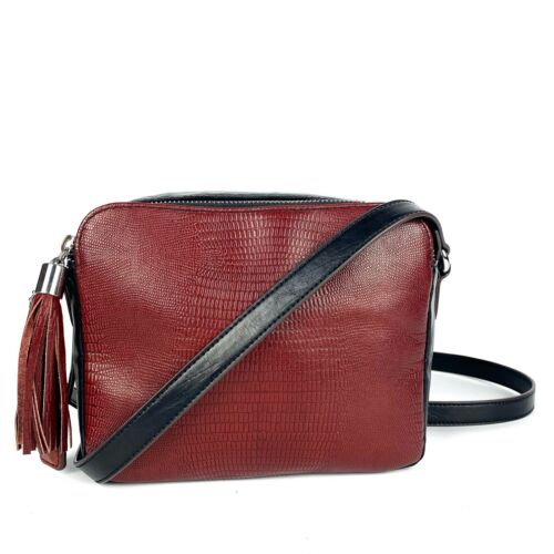 CLARKS 2-tone Boxy Crossbody Bag Leather Double-Co