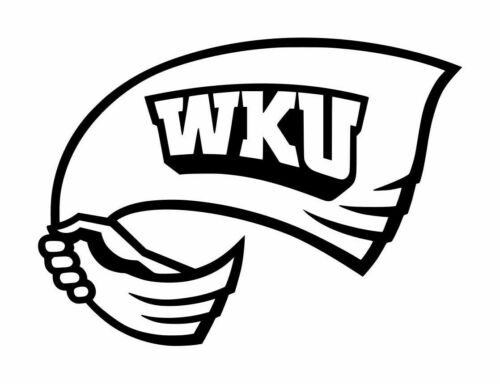 """Western Kentucky Hilltopers Decal #1 4/""""x 5.5/"""" Custom Colors"""