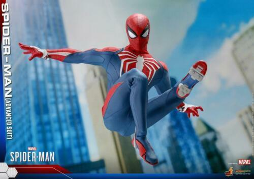 1 6 Hot Toys VGM31 Marvel's Hombre Araña Figura De Acción Colección Traje de avanzada