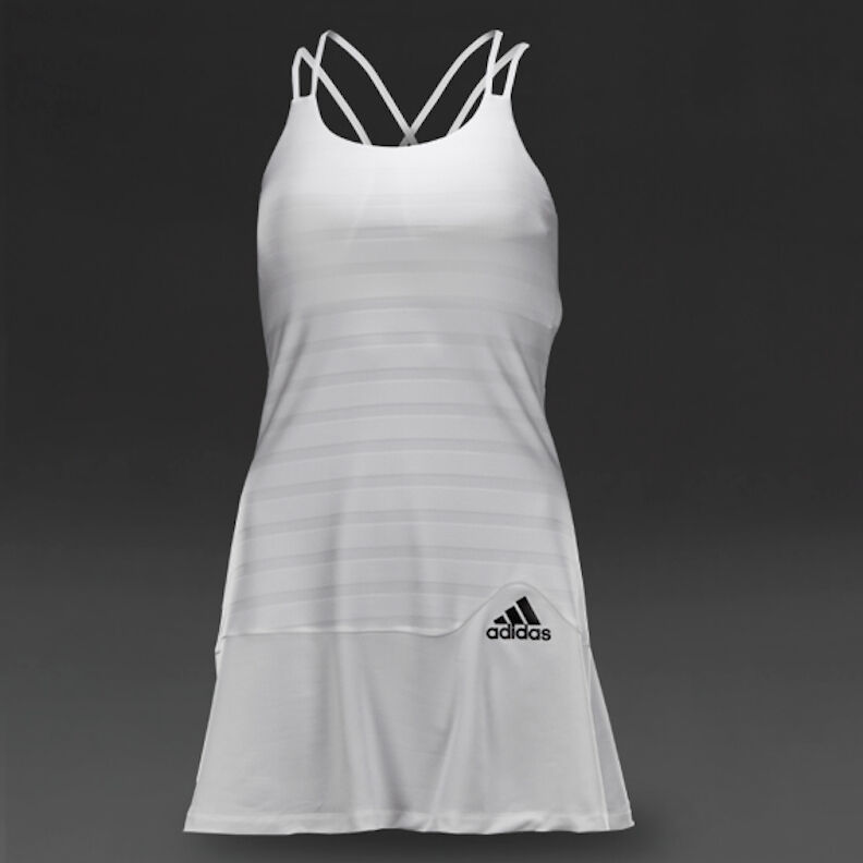 Adidas All Premium Women's White Tennis Dress 2 pc Set  100 NWT Sz M & L A99604