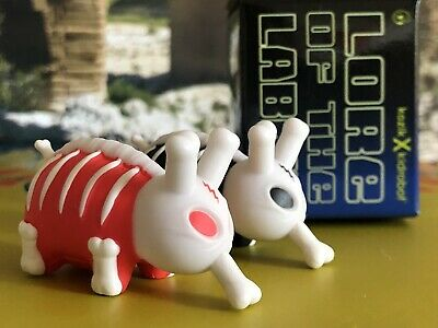 "Kidrobot Kozik Lore Of The Labbit Mini 1.5/"" Bones Black New W//Box"