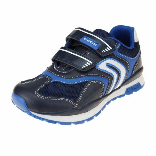 Geox Pavel Boys Navy-Light Blue Trainer size eu kids children hook loop