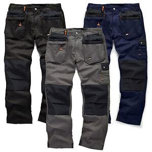 Scruffs-Worker-Plus-Pantaloni-Lavoro-Grafite-Grigio-Nero-Navy-commercio-resistente