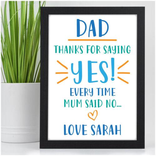 Dad Gifts PERSONALISED Funny Birthday Gifts for DADDY DAD GRANDAD STEPDAD