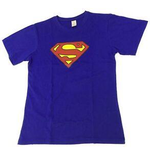 Men-Adult-Super-Man-DC-Comic-Classic-T-shirt-Short-Sleeve-Top-Tee