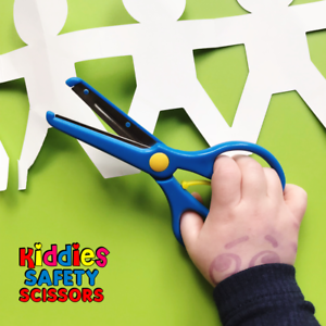 Kiddies-Safety-Scissors-Left-amp-Right-Handers-Perfect-For-Kids-Craft-3-Yrs