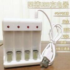 Rechargeable Universal Battery Charger AA//AAA USB Plug Intelligent 4 Slots