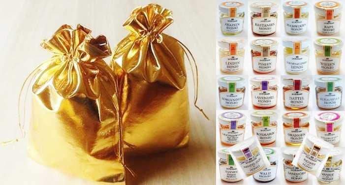 Adventskalender Geschenk Set gefüllt Honig 24 Mini  + Stoffbeutel von Michelsen