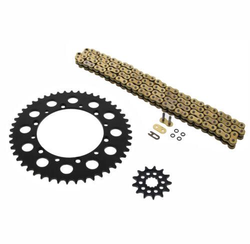 06-14 KX450F Gold ORing Chain Sprocket Black 13//48 114L Kawasaki 08-14 KLX450R