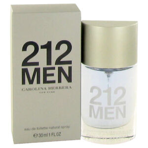 212 Cologne By Carolina Herrera For Men 1 Oz Edt Spray New