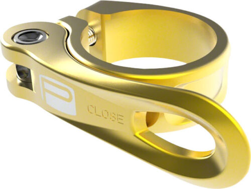 New Promax QR-1 Quick Release Seat Clamp 31.8mm Gold