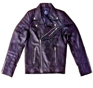 Leather Jacket Seller Mens Brando Biker Padded Sheep Leather Jacket