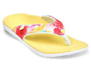 Women-039-s-Spenco-Total-Support-Orthotic-Flip-Flop-Sandals-English-Bouquet-Sz-6