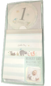 NEW Baby Memory and Milestone Set with Monthly Stickers & Photo Album