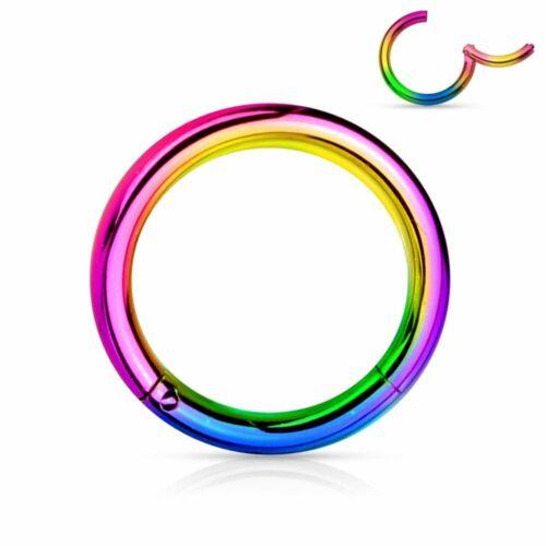 Piercing Ring Kolbenring Clip-In Chirurgenstahl Mehrfarbig