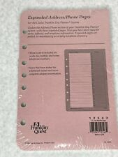 Franklin Covey Refill Pack 55 X 85 Addressphone Classic Size 7 Ring 1995