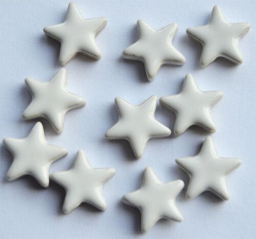 keramische Mosaiksteine Stern ca.15mm weiß ca 10 St 7g