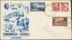 1951-AUSTRALIA-Federation-Set-4-FDC